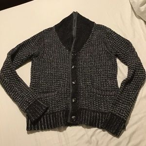 Rag and Bone Black/Grey Wool Cardigan Size S